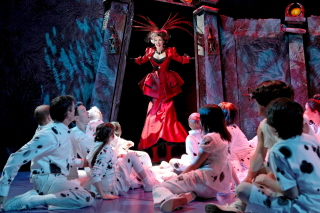 "Rachel York with the Company of ""The 101 Dalmatians Musical"""