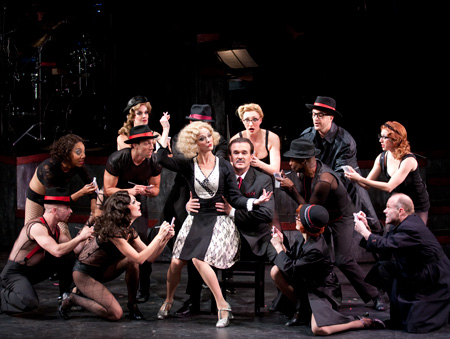 Angie Schworer, George Dvorsky and cast of Chicago