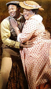 Brandon Victor Dixon and Felicia Fields