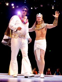 Gary Lynch as the Pharaoh with Anthony Fedorov as Jospeh